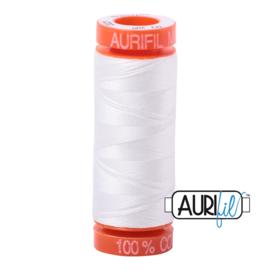 Aurifil Quiltgaren- MAKO 50 - 200 meter - Kleur: 2021 - Natural White