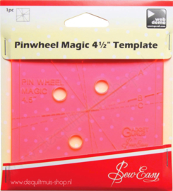 "Sew Easy - Pinwheel Magic 4,5"" Template"