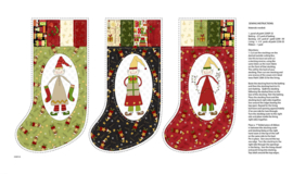 PANEL:  'Christmas Elves Stockings' by Gail Pan - 2295P-33-CREAM