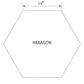 Hexagon 3/4 inch - Pre Cut English Paper Pieces (50 stuks)