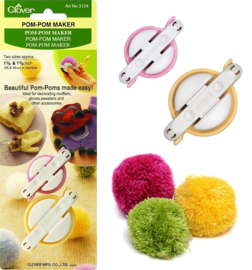 Clover Pom-Pom Maker 3124 - Small, 35 mm & 45 mm
