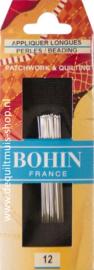 Bohin - Applicatie Naalden Nr. 12 - LANG - 15 stuks
