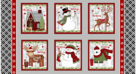 PANEL:  'Snow Merry Multi' by Sarah Fults - 5697-98 Multi