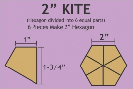Hexagon Kite 2 inch - Pre Cut English Paper Pieces (90 stuks)