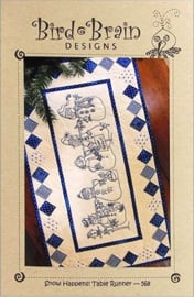 Patroon: 'Snow Happens!' Table Runner by Bird Brain Designs