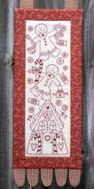 Gingerbread House - Stitchery, Voorgedrukt op Stof (The Birdhouse)