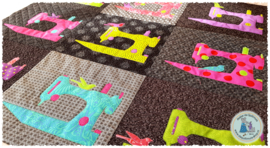 """Fabric Kit:  """"FLOCK OF SINGERS"""" - MULTICOLOR - incl. patroon"""