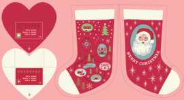 Panel: Red North Pole Stockings - C22.3