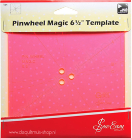 "Sew Easy - Pinwheel Magic 6,5"" Template"