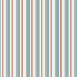 Grandeur Rose by Painted Sky Studio - 6948-24 - Multi Stripe, Pink/Blue