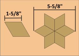 """1-5/8"""" Six Point Diamond (60 stuks)"""