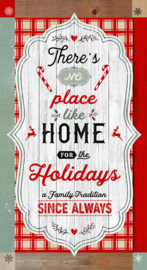 "PANEL: 'Christmas Memories' by Lucie Crovatto - 24"" Word Panel - 5253P-81 Red/Teal"