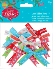 Knoopjes Docraft - Folk Christmas - Large Ribbon Bows