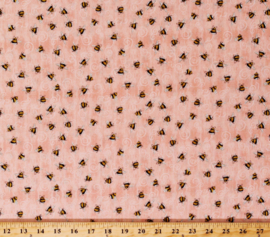 QT Fabrics - 'A Gardening We Grow' - 1649-26501-C, PINK