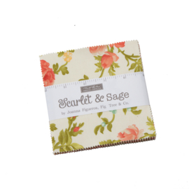 "Moda - 'Scarlet & Sage'  by Fig Tree & Co - 5"" Charm Pack"