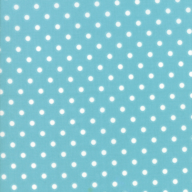 'Bloomington' by Lella Boutique - LAMINATED FABRIC - 5114-16C, Teal - Per halve meter