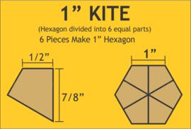 "1"" Hex Kites (120 stuks)"