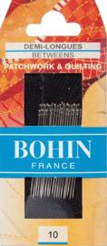 Bohin - Quiltnaalden - BETWEEN - Nr. 10 - 20 stuks
