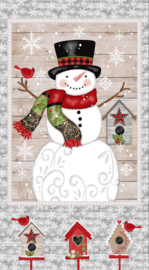 PANEL:  'Snow Place Like Home' by Sarah Fults - 5159P-90.GREY
