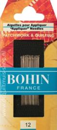 Bohin - Applicatie Naalden Nr. 12 - 15 stuks