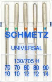 SCHMETZ - Naaimachine Naalden Universeel - 5 stuks  - 130/705 H - ASSORTI N°70-80-90