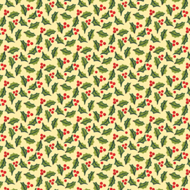 'A Quilter's Christmas' by Jim Shore - Jolly Holly Butter - 6658-03