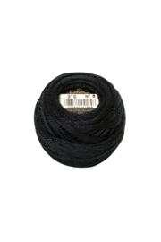 DMC Pearl Cotton on a Ball, Small - Size 8 - 10 gram, Color 310 (BLACK)