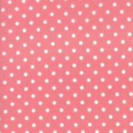 'Bloomington' by Lella Boutique - LAMINATED FABRIC - 5114-14C, Rose - Per halve meter