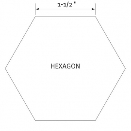 Hexagon 1-1/2 inch - Pre Cut English Paper Pieces (50 stuks)