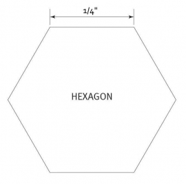 Hexagon 1/4 inch - Pre Cut English Paper Pieces (100 stuks)