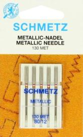 SCHMETZ - Naaimachine Metallic Naalden - 5 stuks - 130MET - 80/12