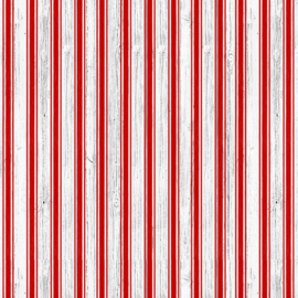 'Christmas Memories' by Lucie Crovatto - Candy Cane Strip - 5262-8 RED