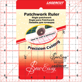 "Sew Easy - Patchwork Ruler - 6½"" x 6½"""
