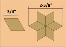"""3/4"""" Six Point Diamond (60 stuks)"""