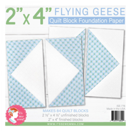 """Quilt Block Foundation PaperPad - 2 x 4"""" FLYING GEESE"""