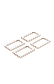 "HAR1-N-SET-3400 - 1"" Rectangle Rings Nickel - Purse Parts By Annie"