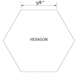 Hexagon 5/8 inch - Pre Cut English Paper Pieces (60 stuks)