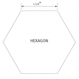 Hexagon 1 1/4 inch - Pre Cut English Paper Pieces (25 stuks)