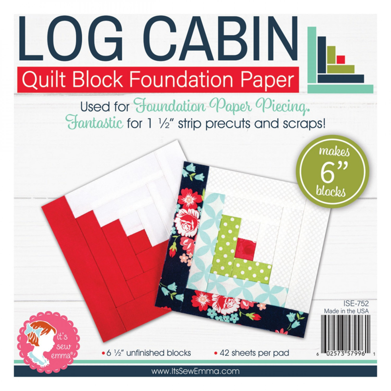 Quilt Block Foundation PaperPad, 6 inch - LOG CABIN