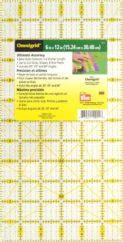 Prym Omnigrid Liniaal - 6 x 12 inch - 611.643