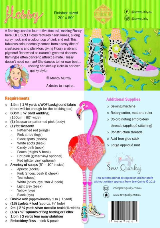 Patroon: 'Flossy' by Sew Quirky