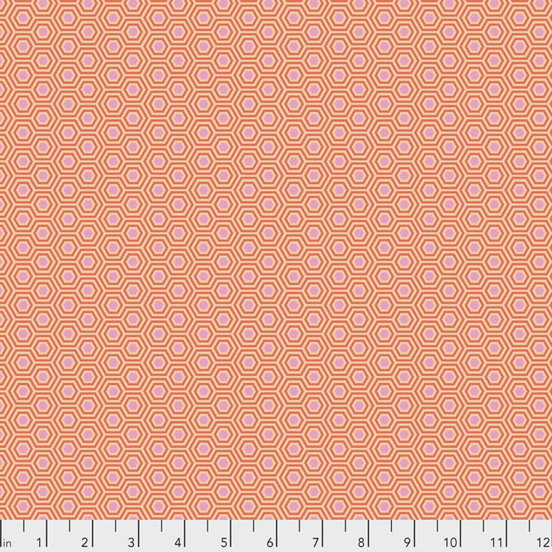 Tula Pink - TRUE COLORS - Hexy - PWTP150.PEACH BLOSSOM