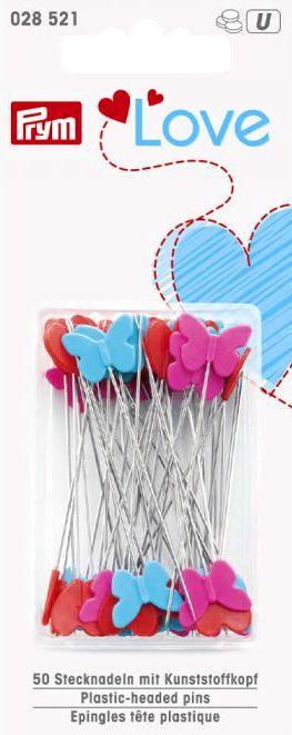 Plastic Headed Spelden Box - 50 stuks - 50 x 0,6 mm (Prym Love - 028.521)