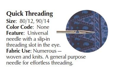 SCHMETZ - Quick Threading Naaimachine Naalden - 5 stuks  - 705HDK - 80/12