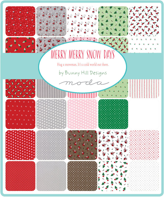 "Moda - 'Merry Merry Snow Days'  by Bunny Hill Designs - 5"" Charm Pack"