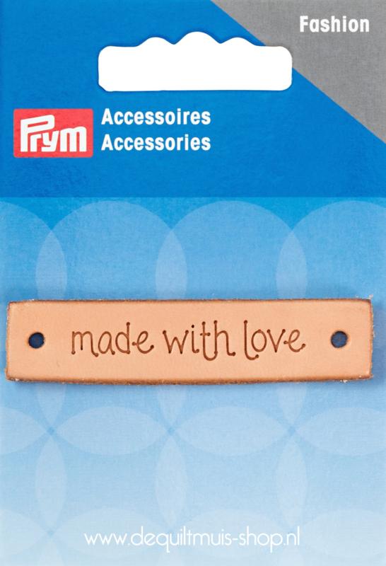Prym - Leren Label (Rechthoekig) - Made with Love - 403.797