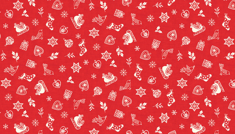 """'Christmas 2019"""" - Scandi Scatter Red - 2126/R"""