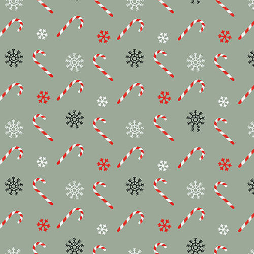'Christmas Memories' by Lucie Crovatto - Tossed Candy Canes - 5259-11 TEAL