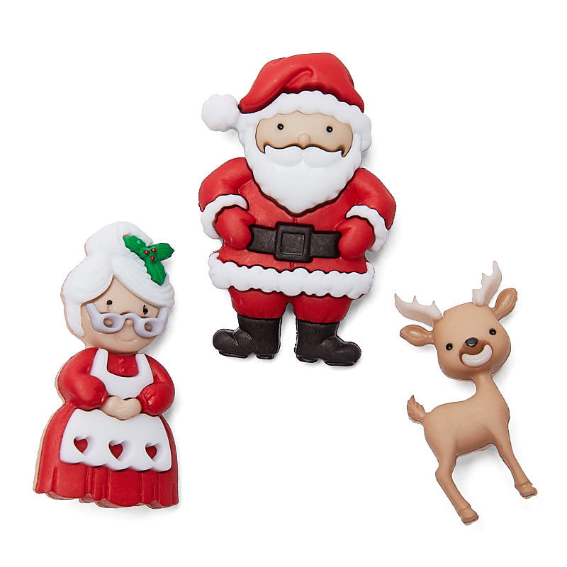 "Knoopjes ""Dress It Up"" - Mr. & Mrs. Claus"
