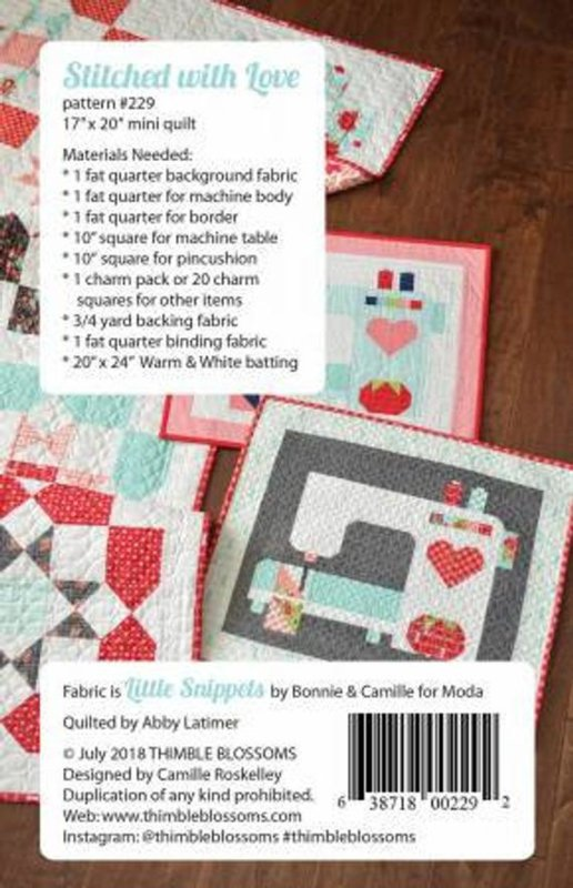 Patroon:  Stitched with Love by Thimble Blossoms